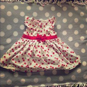 Baby girls cherry pattern dress
